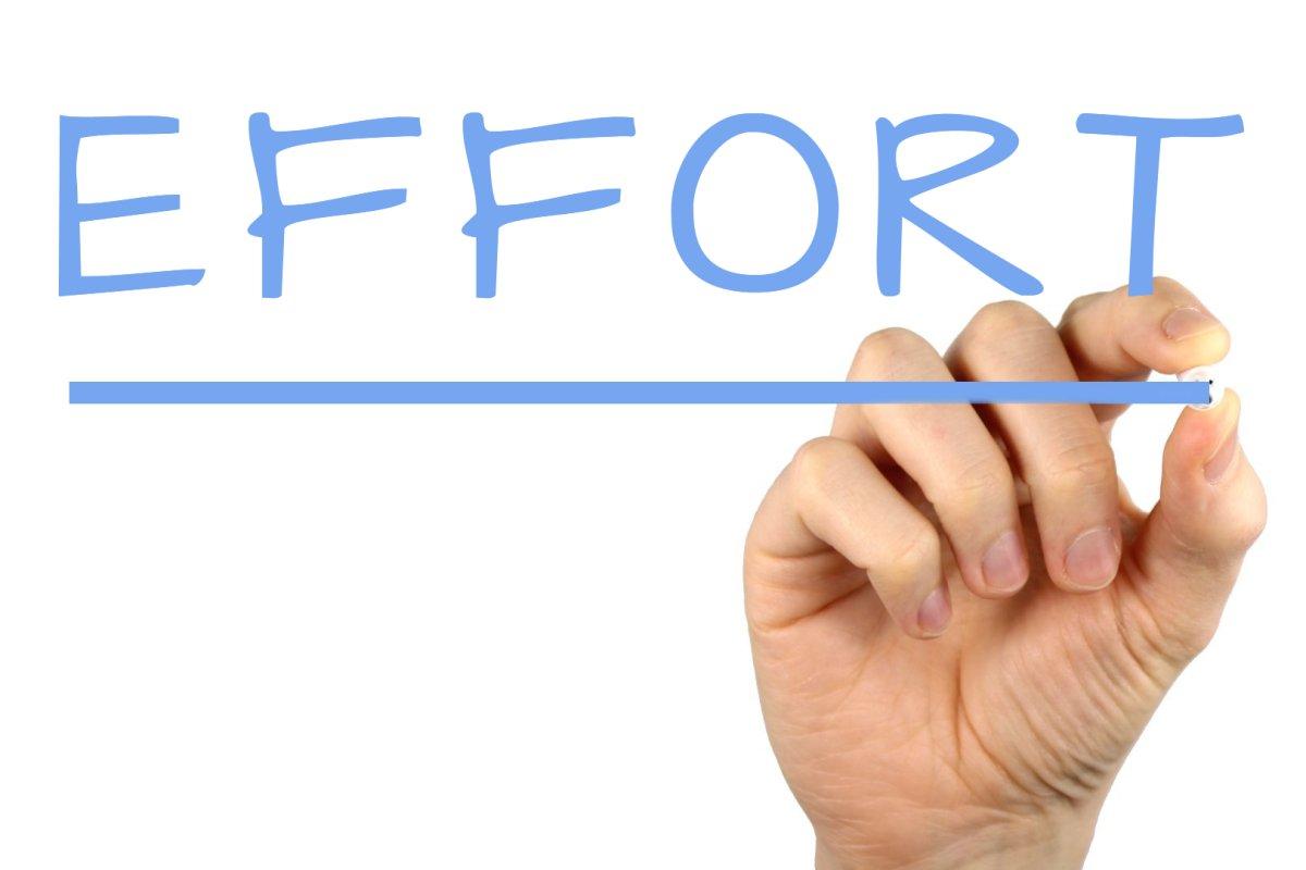 Effort - Handwriting image