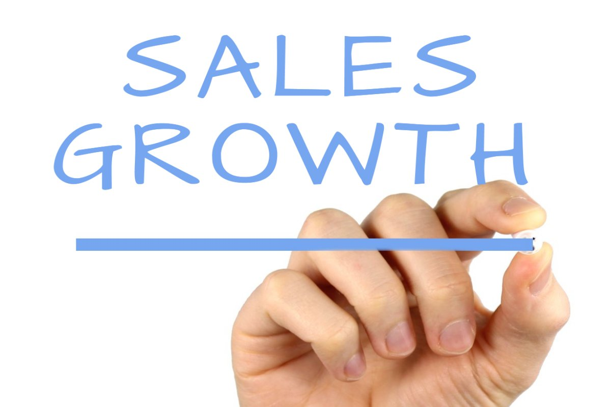 Sales Growth - Handwriting image