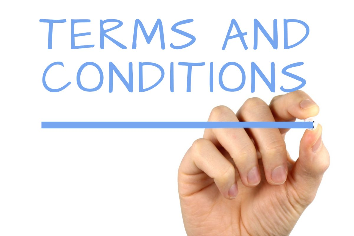 Terms and conditions handwriting image for Generic terms and conditions template