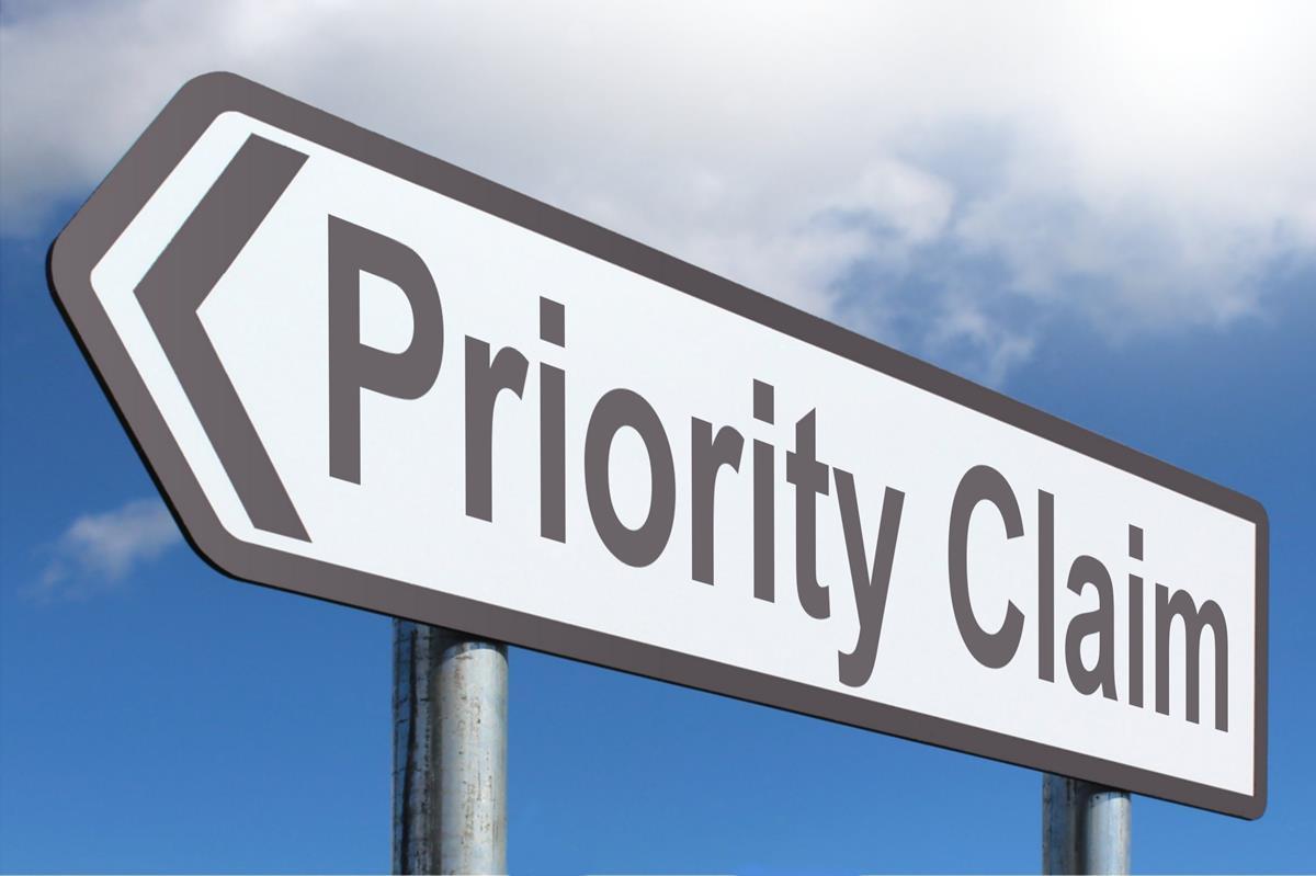 Priority Claim