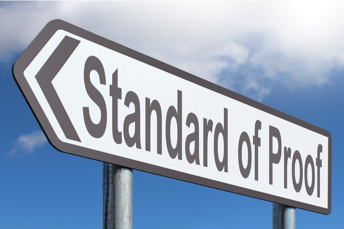 Standard Of Proof